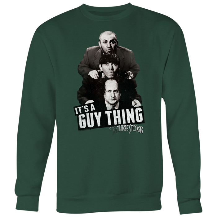 Three Stooges It'S A Guy Thing Heavyweight Crewneck Sweatshirt