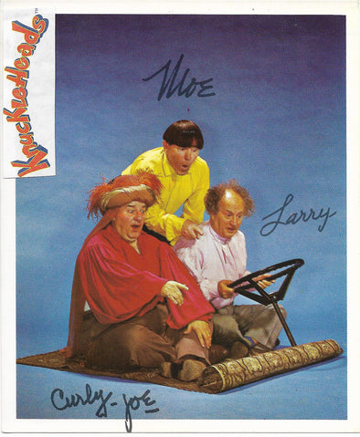 Three Stooges Original Glossy Promo Photo - 4X6 Magic Carpet