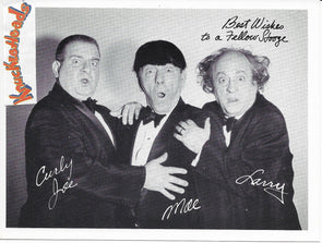 Three Stooges Original Glossy Promo Photo - 5X7 Best Wishes
