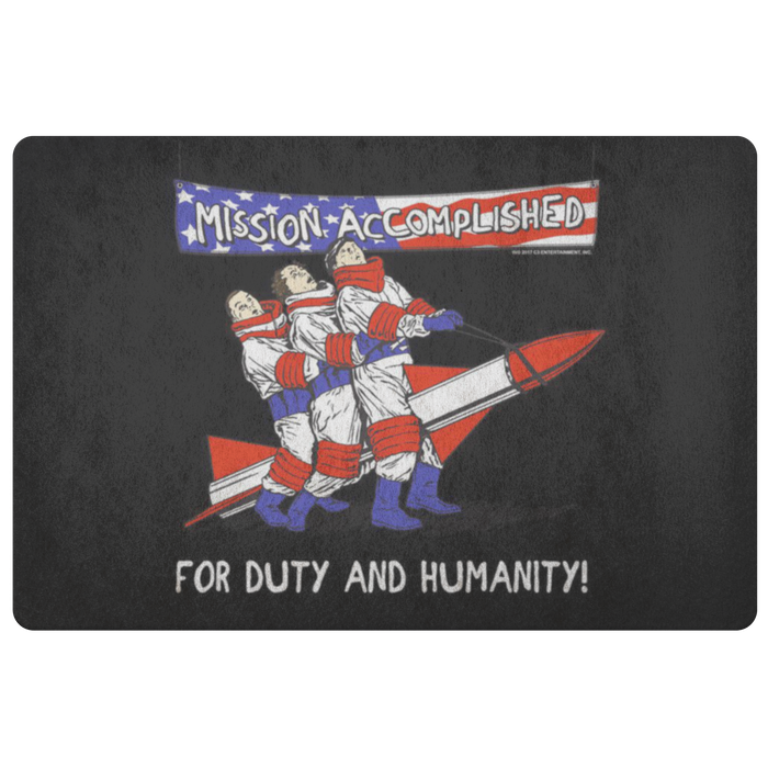 Three Stooges Mission Accomplished Doormat