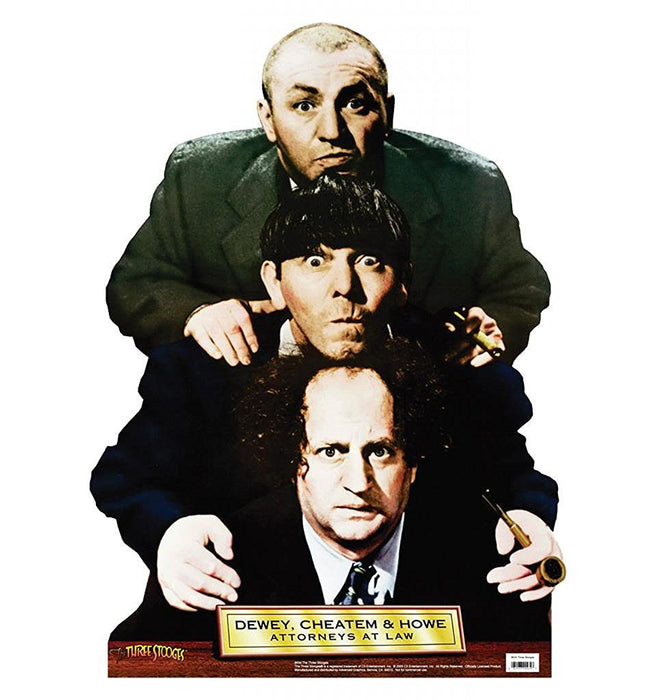 Three Stooges Dewey, Cheatum & Howe Stand-Up - Free Shipping