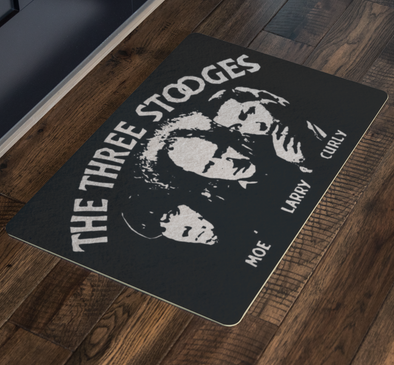Three Stooges Opening Credits Logo Doormat - FREE SHIPPING