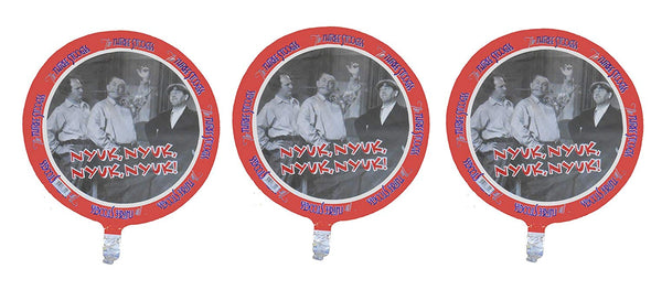 "Three Stooges Foil Birthday Balloon - 18"" - 3 pack"