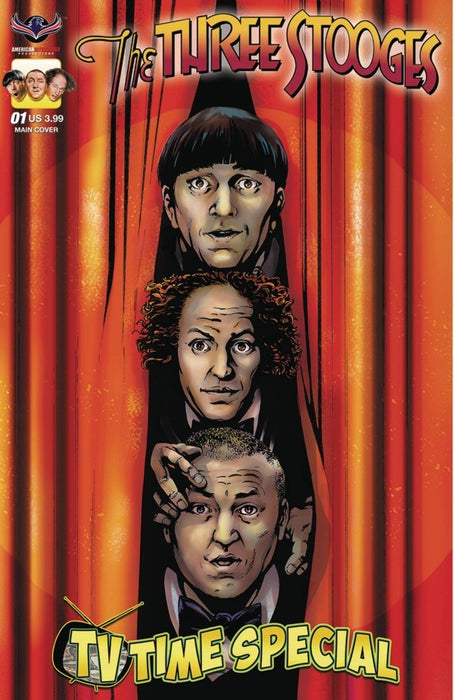Three Stooges Comic Book Series 8 / 3 Heads Cover 3: Tv Time Special
