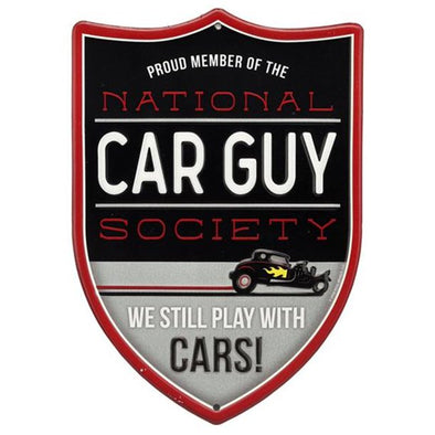 National Car Guy Society Embossed Tin Sign