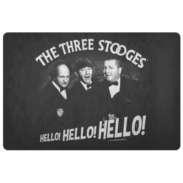 Three Stooges Classic Hello Doormat