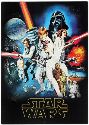 Star Wars New Hope Poster Embossed Tin Sign