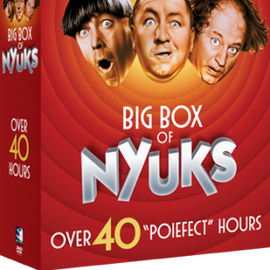 FREE SHIPPING - The Three Stooges Big Box of Nyuks Collector's DVD Series: 40 Hours Of Fun!