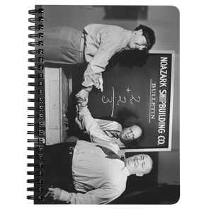 THREE STOOGES SPIRAL NOTEBOOK - CHALKBOARD - Free Shipping