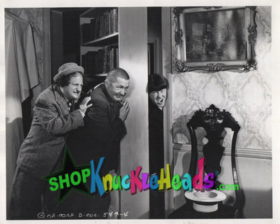 The Three Stooges MOE HEAD SMASHED 8x10: #18 - READY TO SHIP