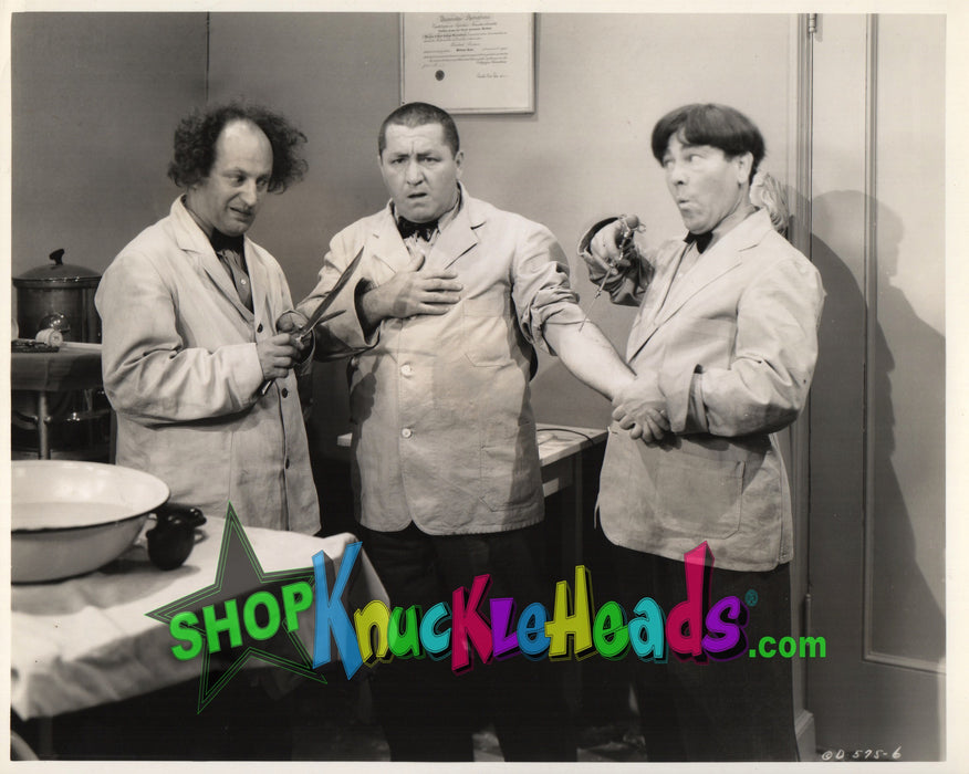 Three Stooges Doctors 8X10: #17