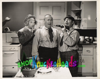 The Three Stooges KITCHEN MESS 8x10: #20 - READY TO SHIP