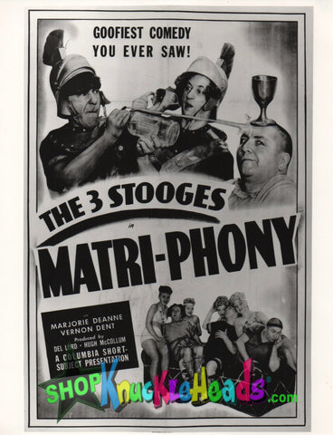 The Three Stooges 8X10: #12 - READY TO SHIP