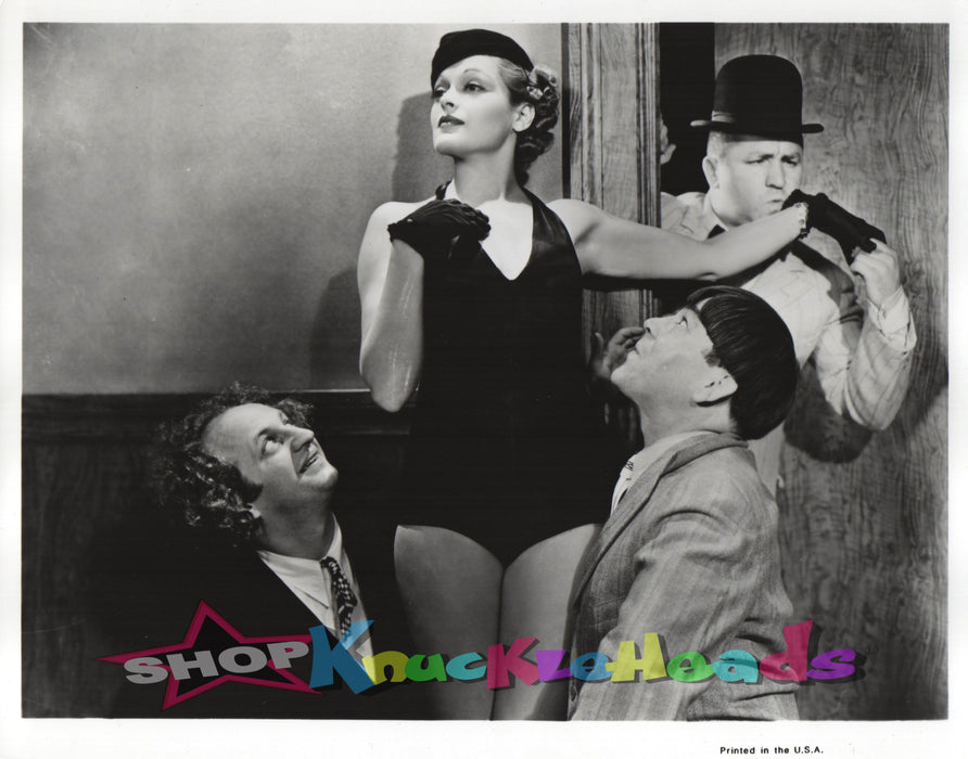 Three Stooges Wooing Gal 8X10 #27