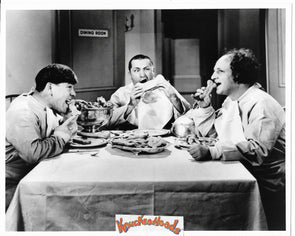 Three Stooges Original Glossy Promo Photo - Eating Dog Biscuits