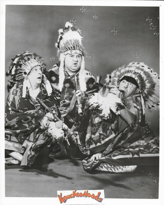 Three Stooges Original Glossy Promo Photo - Indians