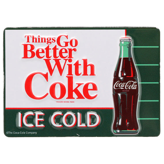 Coca-Cola - Things Go Better With A Coke - Embossed Metal Magnet