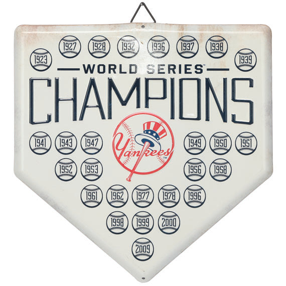 New York Yankees Home Plate Metal Wall Art Tin Sign