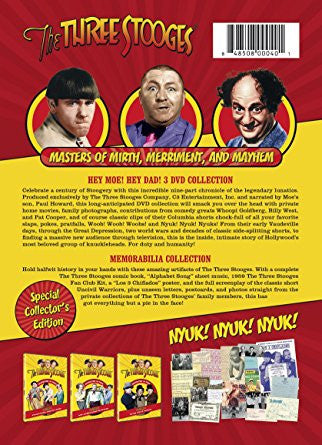 Three Stooges Dvd Box Set - Hey Moe! Hey Dad! FREE SHIPPING