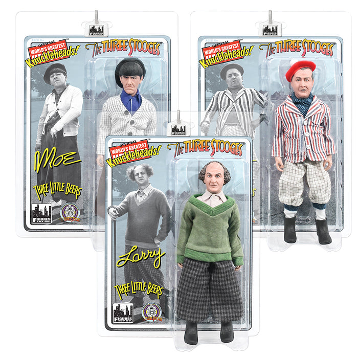 Three Stooges Action Figures 3 Pack Three Little Beers