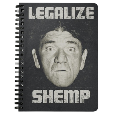 THREE STOOGES SPIRAL NOTEBOOK - LEGALIZE SHEMP - Free Shipping