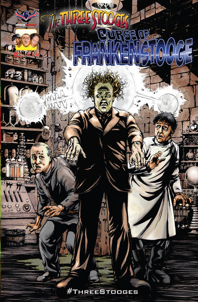The Three Stooges Comic Book Series 4 / Cover 1: Frankenstooge