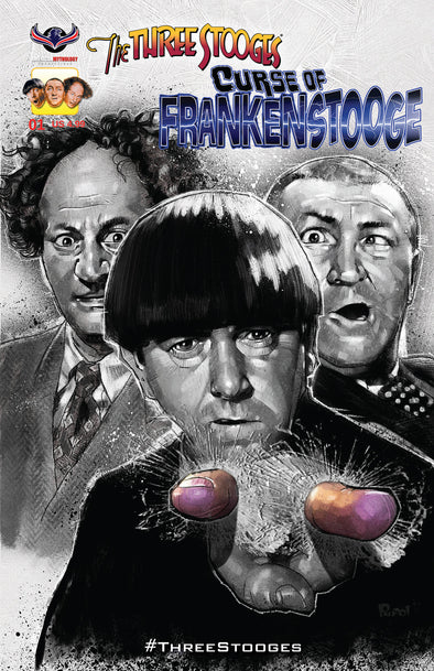 The Three Stooges Comic Book Series 4 / Cover 2: Frankenstooge - Eyepoke
