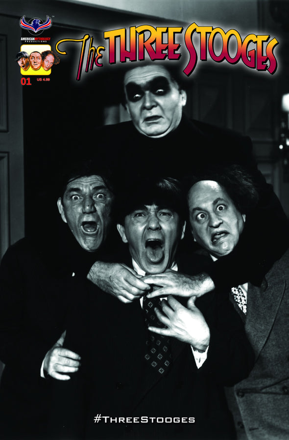 The Three Stooges Comic Book Series 4 / Cover 5: Frankenstooge - Rare B&W