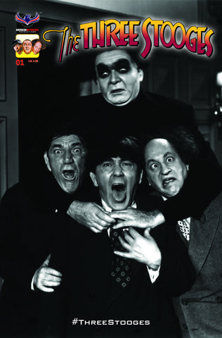 The Three Stooges Comic Book Series 4 / Cover 5: Frankenstooge - Rare B&W - READY TO SHIP