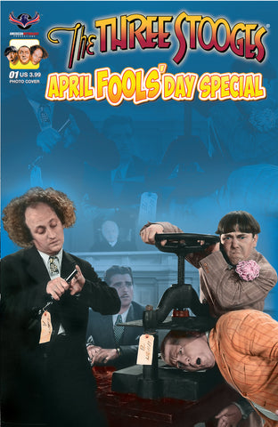 The Three Stooges Comic Book Series 6 / Cover 2: April Fools' Day Color Photo