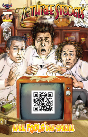 The Three Stooges Comic Book Series 6 / Cover 1: April Fools' Day QR