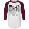 Three Stooges American Legends Colorblock Raglan 3/4 Sleeve T-Shirt