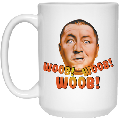 Three Stooges Woob Woob Woob Curly Large 15 oz. Mug - Free Shipping