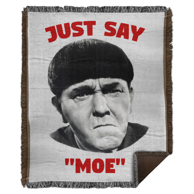 Three Stooges Just Say Moe Woven Blanket - 50X60