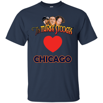 Three Stooges Love Chicago Heart T-Shirt