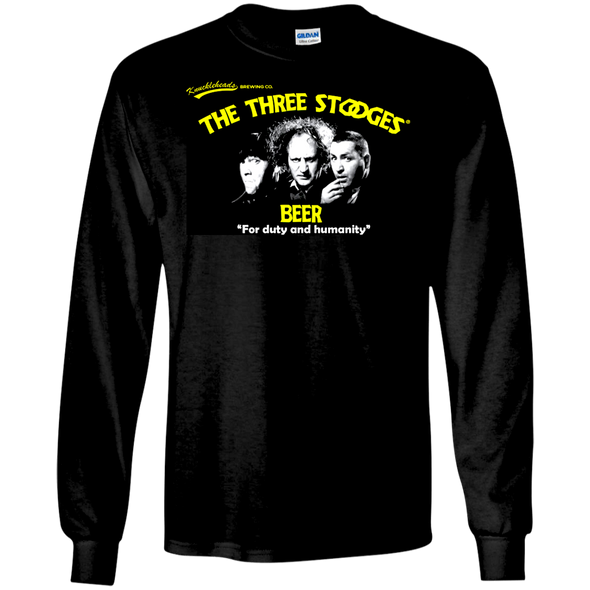 Three Stooges Beer Long Sleeve T-Shirt