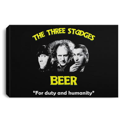 Three Stooges Beer Landscape Canvas .75in Frame