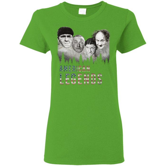Three Stooges American Legends Ladies' T-Shirt