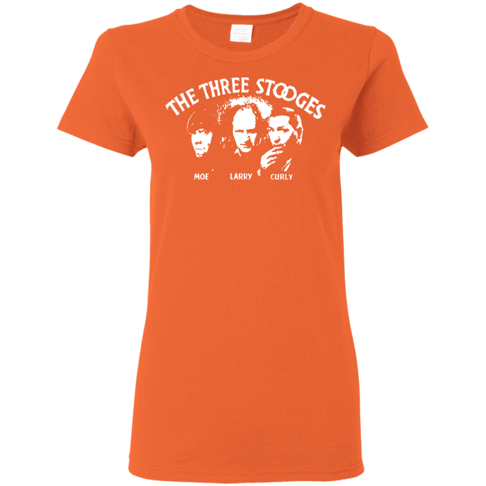 Three Stooges Ladies' Classic Opening Credits Logo T-Shirt
