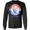 Three Stooges Curly For President Long Sleeve Shirt