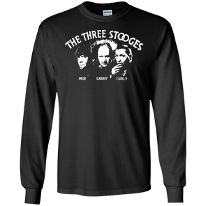 Three Stooges Opening Credits Classic Logo Long Sleeve T-Shirt
