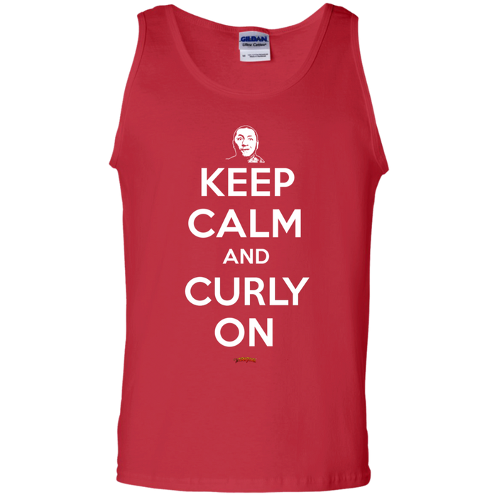 Three Stooges Keep Calm And Curly On Tank Top