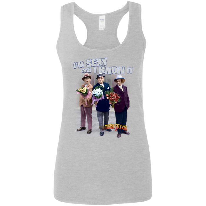 Three Stooges I Know I'm Sexy Ladies' Softstyle Racerback Tank Top