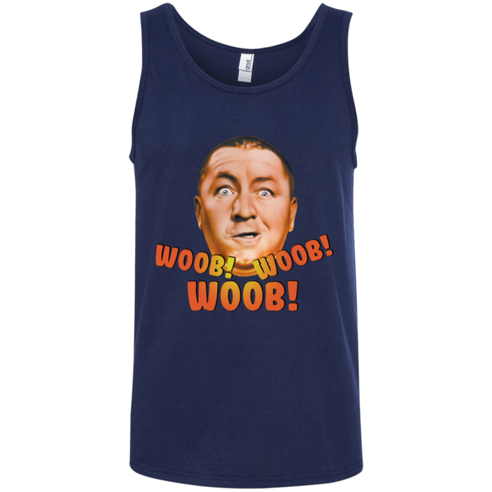 Three Stooges Curly Woob Ringspun Cotton Tank Top