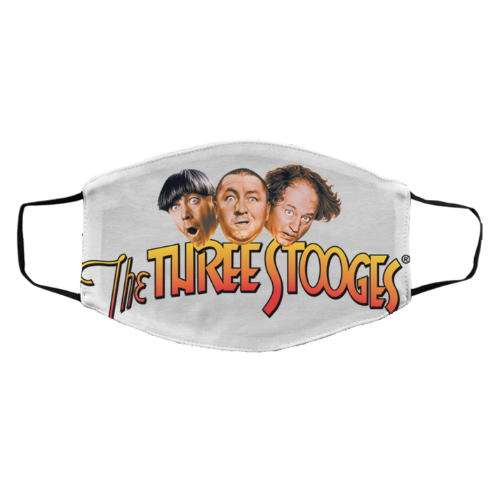 Three Stooges Big Logo Face Mask