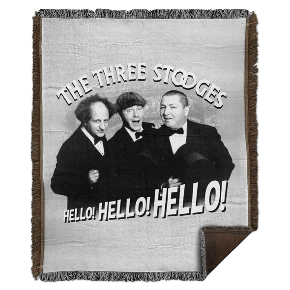 Three Stooges Hello Hello Hello Woven Blanket - 50X60