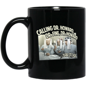 Three Stooges 11 oz. Black Mug - Doctors