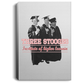 Three Stooges Graduates Portrait Canvas .75in Frame