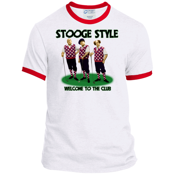 Three Stooges Ringer Tee - Golf