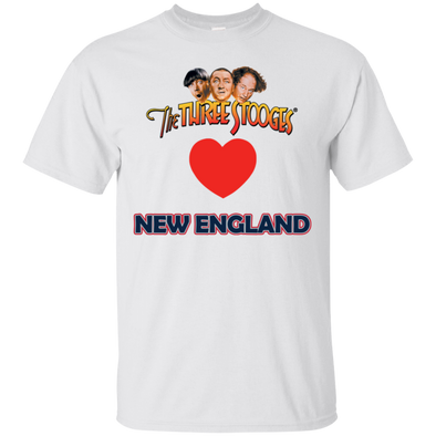 Three Stooges Love New England Heart T-Shirt